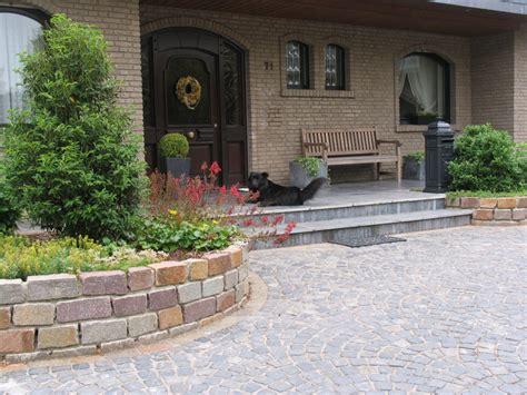 hauseingang gestalten granit vorplatz