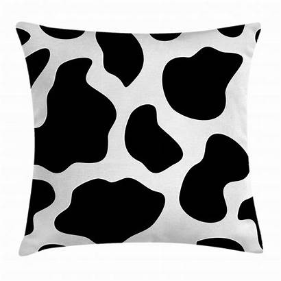Cow Pillow Throw Cushion Abstract Accent Hide