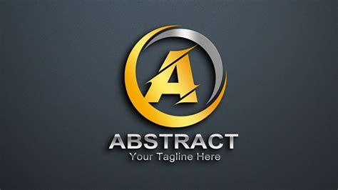 abstract letter  logo design  psd graphicsfamily
