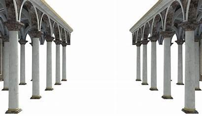 Pillars Arch Fancy Ballroom Overlay Historic Episode