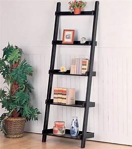 PDF DIY Leaning Ladder Bookshelf Plans Download log home