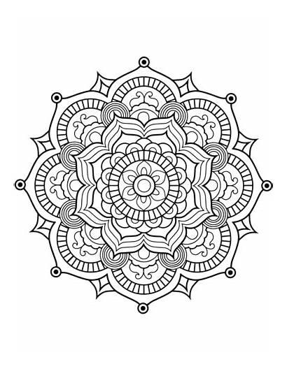 Mandala Coloring Pages Flower Adults Printable Flowers