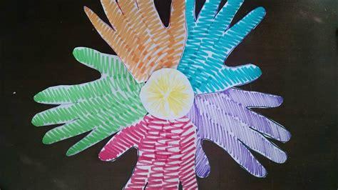 easiest arts  crafts  kids easy handprint flower