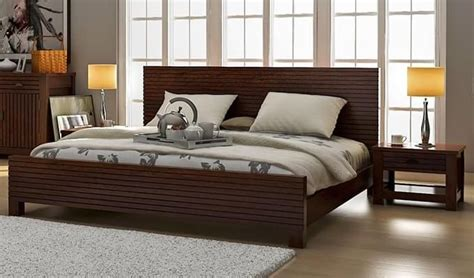 buy felner bed  storage king size walnut finish