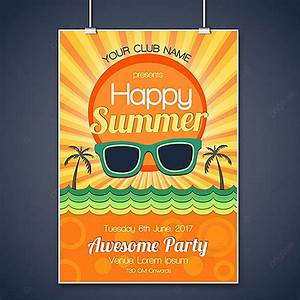 summer, party, poster, design, template, download, on, pngtree