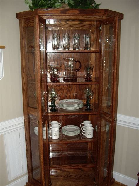 pictures of china cabinets custom qak corner china cabinet by d n yager woodworks