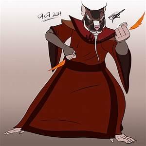 Firebending Master Splinter by Redworld96 on DeviantArt