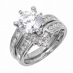 Ring Set Silber : sterling silver custom engagement ring wedding band bridal set cz sizes 4 12 ebay ~ Eleganceandgraceweddings.com Haus und Dekorationen