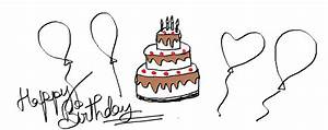 Easy Kids Drawing Lessons : How to Draw a Cartoon Birthday ...