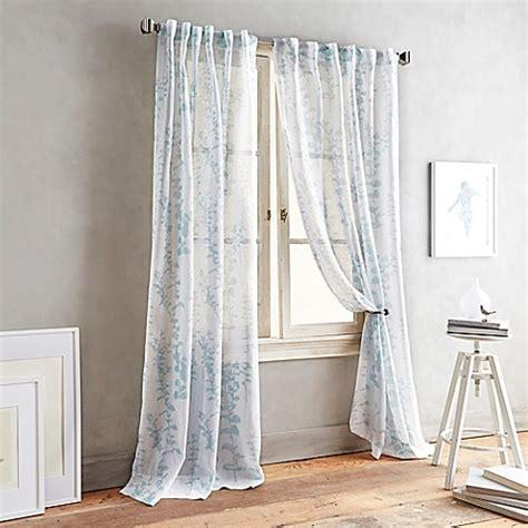 dkny front row  tab sheer window curtain panel bed