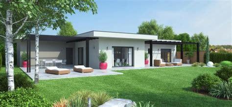plan de maison plain pied 3 chambres avec garage maison calivan contemporaine plain pied terrasse couverte