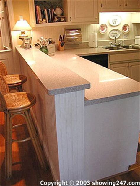 Raising countertop to add a breakfast bar    Ceramic