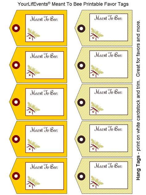printable tags printables  meant  bee wedding