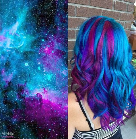 The Very Best Of Galaxy Hair And Space Hairstyles