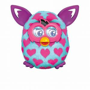 Amazon.com: Furby Boom Pink Hearts Plush Toy: Toys & Games