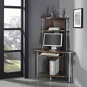 Home, Office, Corner, Work, Station, Computer, Desk, Table, Pc, Walnut, Standing, Unit, New