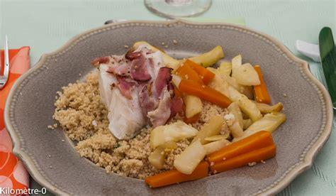 cuisine cabillaud couscous de cabillaud au lard kilometre 0 fr