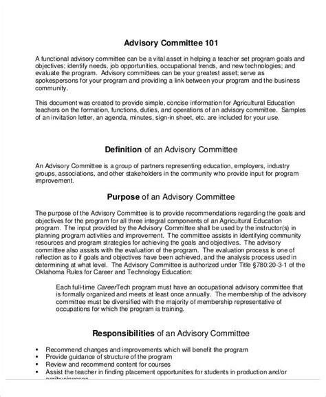 sample committee agenda  sample  format
