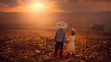 kid couple sunset wallpapers hd wallpapers rocks