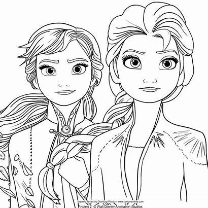 Elsa Frozen Anna Colorare Colorear Coloring Imprimir