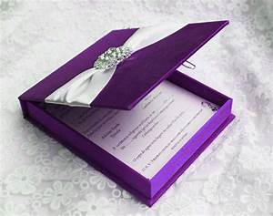 aliexpresscom buy item code hi2015 luxury purple With silk box wedding invitations indian