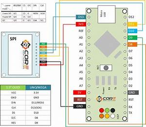 Wiring Oled 128 U00d764 1 3 Inch Display On Spi  I2c