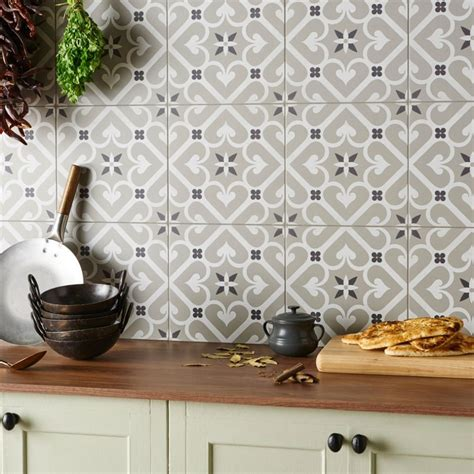 kitchen wall tile design ideas grey wood tile flooring brick pattern kitchen modern ideas