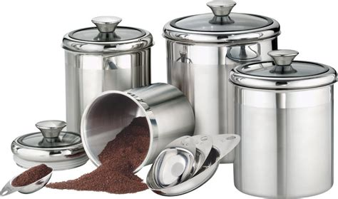 glass kitchen canister sets 5 best stainless steel kitchen canister set convenient