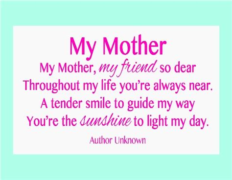 mothers day quotes and poems beautiful mother poems and quotes quotesgram