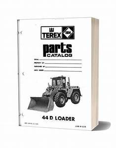 Hanomag  U0026 Hanomag Built Terex 44d Pm 3091159m1 Parts Book
