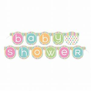 Baby Shower Banner Multi Coloured Baby Showers – Poppyseed