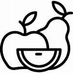 Healthy Icon Fruit Fruits Clipart Organic Diet