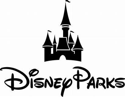 Disney Castle Disneyland Clipart Walt Drawing Font