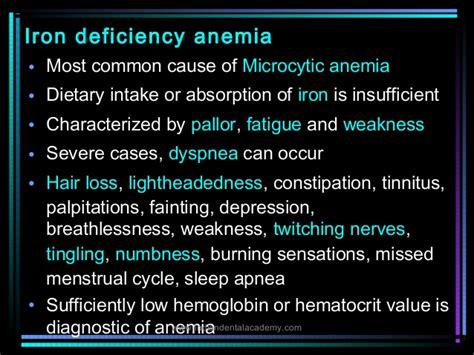 Anemia/dental Courses