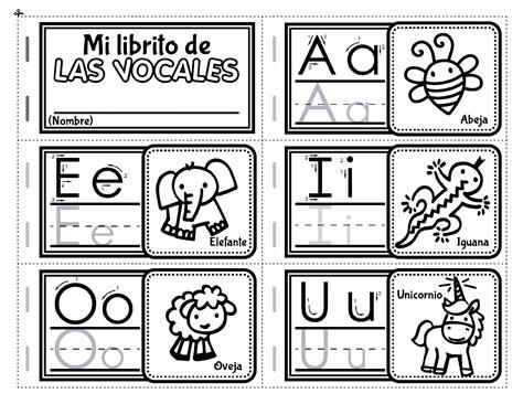 actividades con las vocales para imprimir mi librito de las vocales para recortar orientaci 243 n