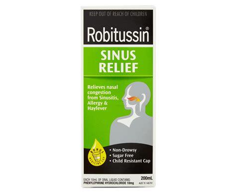 Robitussin Sinus Relief Liquid 200ml Groceryruncomau
