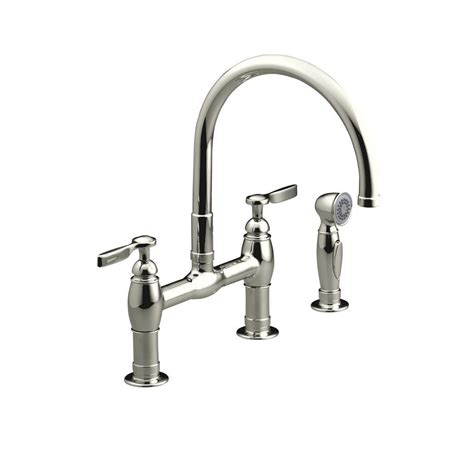 bridge kitchen faucet with side spray grohe bridgeford 12 in 2 handle high arc side sprayer