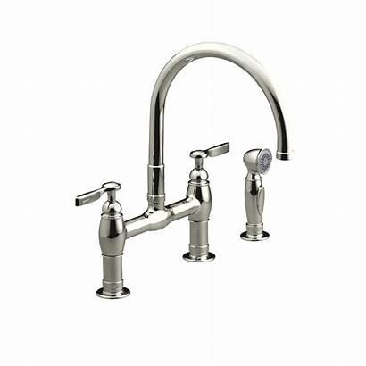 Kohler Bridge Nickel Faucet Polished Kitchen Sprayer