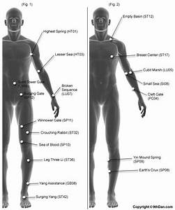 Pressure Points Chart For Martial Arts