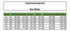 Lohnabrechnung Berechnen Kostenlos : zeiterfassung mit excel 8 kostenlose stundenzettel vorlagen ~ Themetempest.com Abrechnung