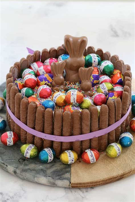 cheats  minute chocolate overload easter cake bake