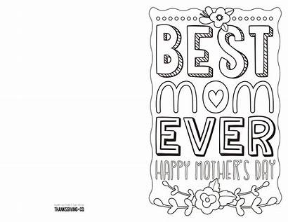 Mothers Printable Cards Coloring Card Mother Thanksgiving
