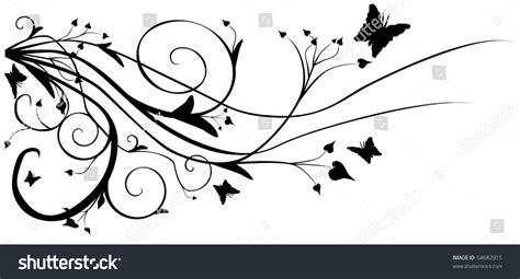 Abstract Flowers Black And White by Abstract Black And White Vector Flowers Background