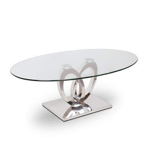 canape angle cuir 7 places table basse inox et verre ellipse