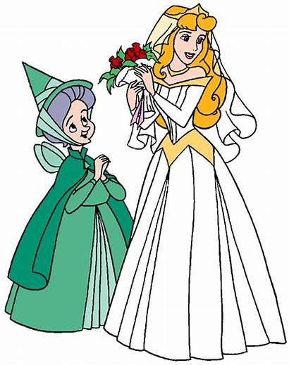 Aurora Princess Disney Clipart Clip Bride Fairies