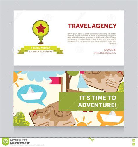 travel agency visiting card sample