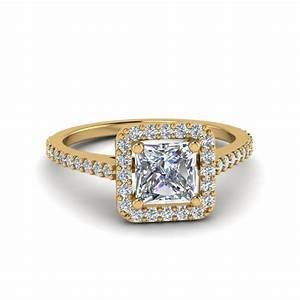 princess cut square halo diamond delicate engagement ring With wedding rings square cut diamond