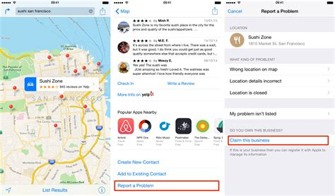 apple maps business my