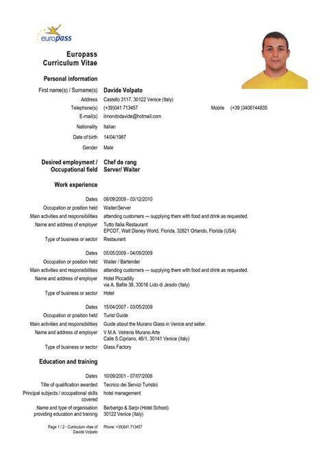 cv europass curriculum vitae curriculum vitae resume