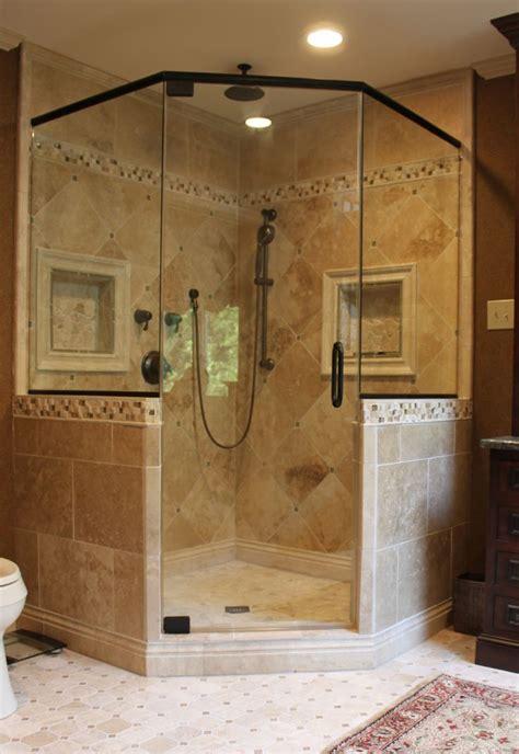 Custom Bathroom Designs by Like The Shower Frame Want Two Shower Heads Like